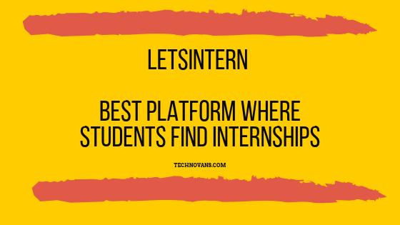 LetsIntern – Best Platform to find Internship for Students