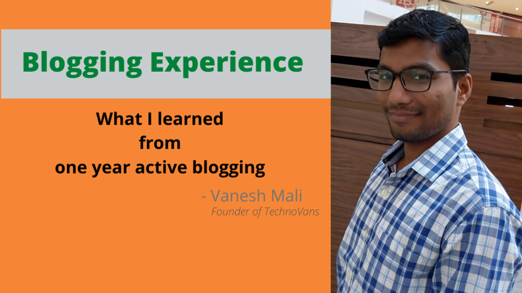 Blogging Experience of the year