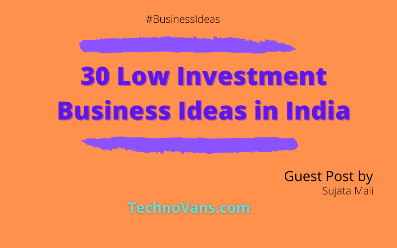 30 Low Investment Business Ideas in India