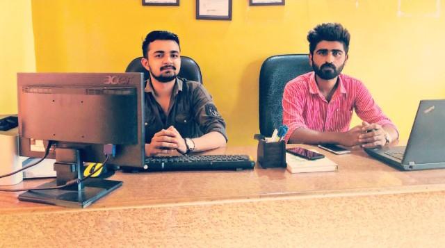 Pruthviraj Dhakhada and Karan Basiya - Founders at The Yellow Cabs Taxi Services in India